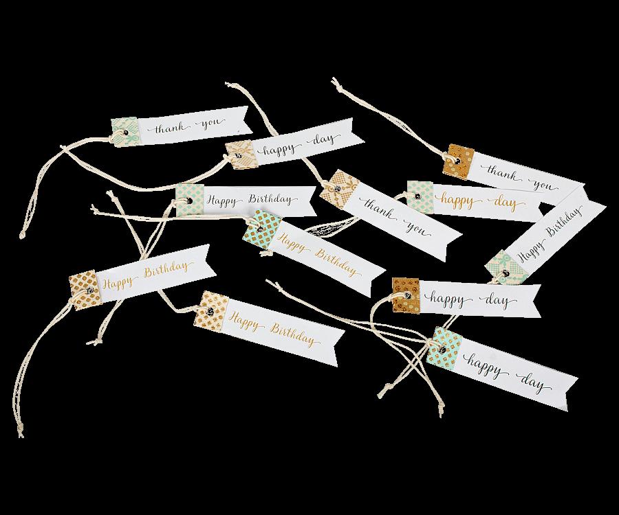 Paper Tags, 12pcs/pck